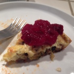 Frittata with cranberry sauce